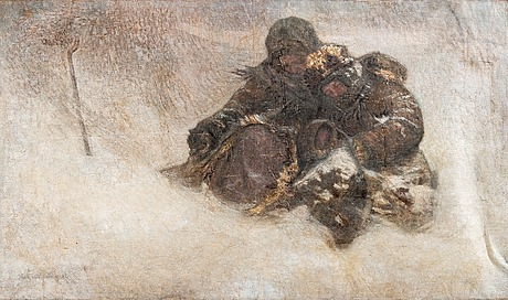 Nikolai bogdanov bel'sky, winter. children.