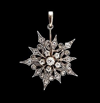 106. HÄNGE, antik och rosenslipade diamanter ca 1.20 ct.
