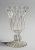 Vas pÅ fot, glas, 1800-tal.