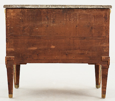 A gustavian commode by gottlieb iwersson, signed and dated 1783.