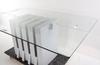 Matbord, glas/trä, formgiven av rolf Åkesson och lars göran nilsson för offbeat design.