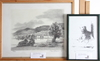 Parti litografier, 2 st, jörgen zetterquist och olle berlin. prov; olof sager