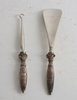 Skohornsset, 2 delar, silver, svenska importstämplar