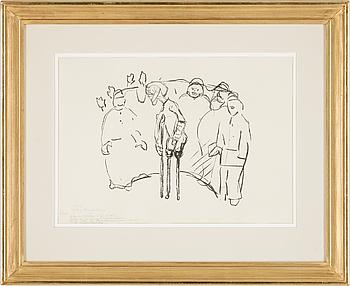 """""""Caricature; After the Assaults (Karikatur: Etter Overfallene)""""."""