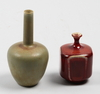 Miniatyrer, 2 st. stengods. rolf palm, mölle resp carl-harry stålhane, rörstrand.