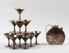 Cocktailset, 13 delar, nysilver, art deco, c.g hallberg