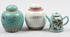 Parti porslin, 3 st, kina. 1800 1900 tal
