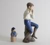 Figuriner, 2 st, porslin, royal copenhagen resp bing & gröndahl.