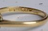 Ring, 18 k guld med små briljanter, totalt c:a 0.39 ct.