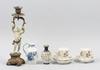 Parti diverse, 5 delar, porslin, metall. 1800/1900-tal.