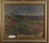 Schewen, von olle. olja på masonit, sign o dat. 1937.