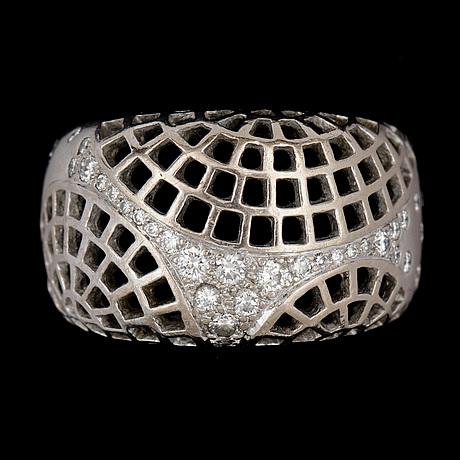 A cartier brilliant cut diamond ring, tot. app. 0.40 cts.