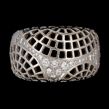 6. Ring, Cartier, briljantslipade diamanter, tot. ca 0.40 ct.