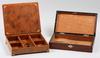 Skrin, 2 st, trä, läder, sekelskiftet 1800/1900.