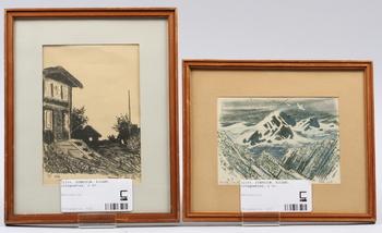 SVENSSON, ROLAND, litografier, 2 st. Sign med dedikation.