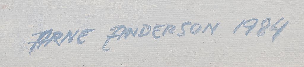 ARNE ANDERSSON, olja på duk, sign och dat 1984.