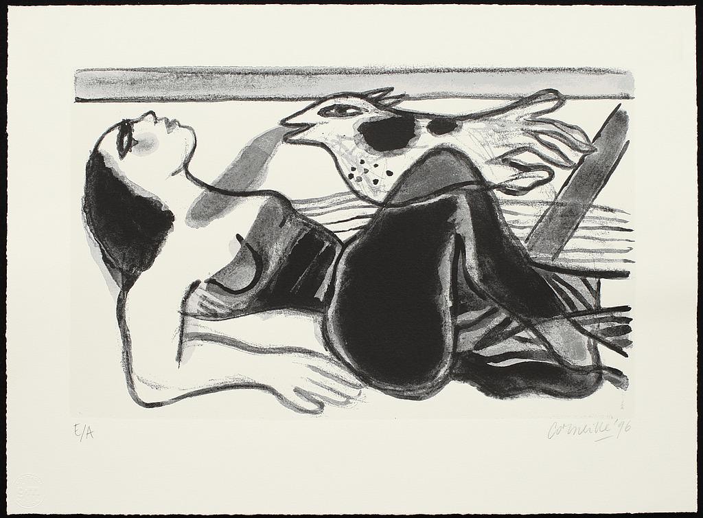 BEVERLOO CORNEILLE, litografier, 2 st, EA, sign,  o dat 96.