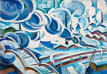 """35. Agnes Cleve, """"St Eriksbron"""" (The bridge St Eriksbron, Stockholm""""."""