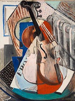 """16. Arvid Fougstedt, """"Stilleben med fiol"""" (Still life with violin)."""
