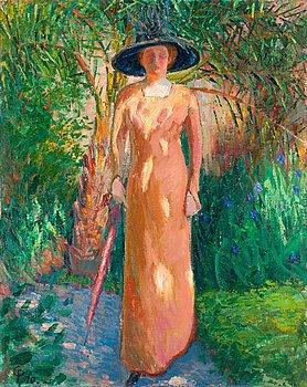 "12. Carl Palme, ""Solfläckar"" (Portrait by the artists first wife Anna Uggla)."