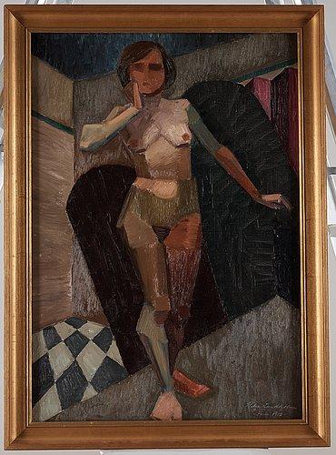 Helge lundholm, cubist model.