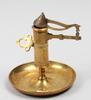 Ljusstake med slÄckningsanordning, mässing, skultuna, 1900-tal.