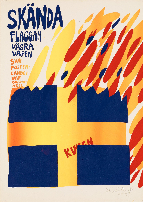 Bildresultat för skända svenska flaggan