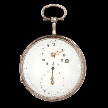 1433. FICKUR, regulatortavla, datum, cylindergång, Hahn in Stuttgardt, 1800-talets mitt.
