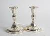 Ljusstakar, ett par, silver, importstämplar.