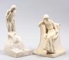 Skulpturer, 2 st, gips. bär signatur.