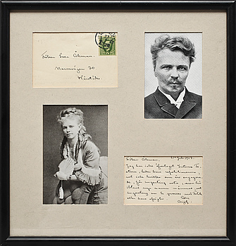 AUGUST STRINDBERG, brev, sign o dat 21 Juli 1908.