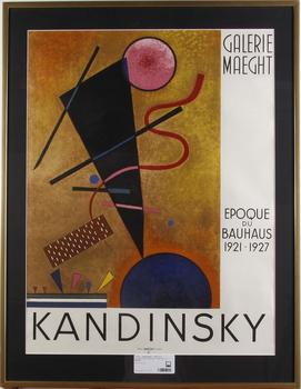 KANDINSKY, WASSILY. Litografisk affisch utgiven av Maeght.