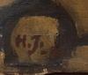 OkÄnd konstnÄr, olja på duk, monogramsignerad h.j.