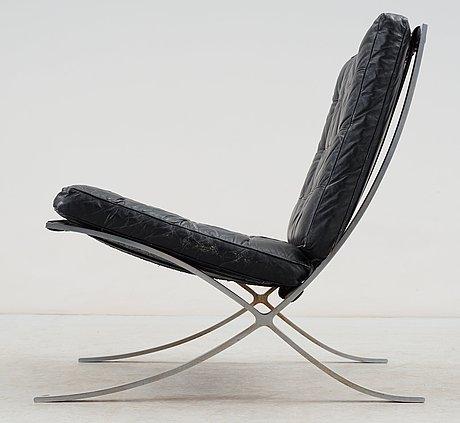 A Ludwig Mies Van Der Rohe Barcelona Chrome Plated Easy Chair