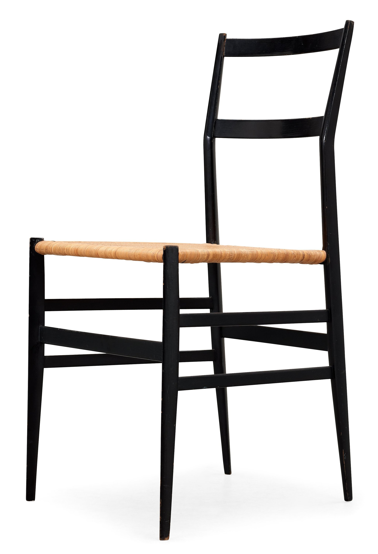 Genial A Gio Ponti U0027Superleggerau0027 Chair, Cassina, Italy, Black Painted Ash With  Ratten Seat.   Bukowskis