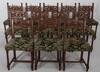 Bord samt stolar, 12 st. barockstil.