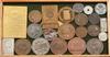 Minnesmedaljer samt plaketter, ca 40 st, bla silver, brons, sent 1800-tal till 1900-talets första hälft.