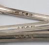 Bestickservisdelar, 10 delar, silver, flertal smeder bla christopher creutz, stockholm, 1840-70-talet.
