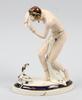 Figurin, porslin. royal dux. 1930/40-tal.