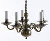 MÄssingskrona, barockstil, 1900-tal. fem ljusarmar.