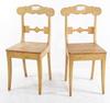 Stolar, ett par, karl johan, 1800-tal.