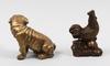 Figuriner, 2 stycken. metall, orientaliska.