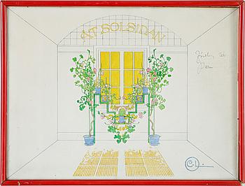 CARL LARSSON, akvarell, Sign CL.