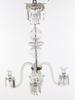 Ljuskrona, glas, barockstil, 1800-talets andra hälft. h 75.