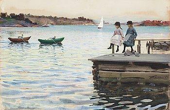 "868. Anders Zorn, ""Kapprodd"" (""Boat Race"")."