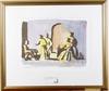 Dahl, peter, akvarellerad litografi, provtryck i ett ex. sign och med påskrift á tergo.