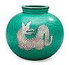 A wilhelm kåge 'argenta' stoneware vase, gustavsberg.