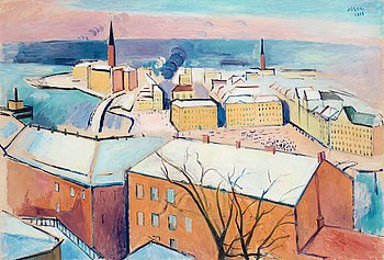107. EINAR JOLIN, Stockholm in winter.