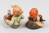 Figuriner, 2 st, porslin, hummel, tyskland.