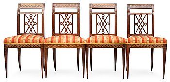 8. A SET OF FOUR CHAIRS.